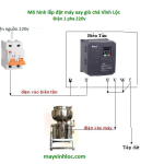 hướng dẩn lắp đặt biến tần máy xay giò chả lụa công nghiệp
